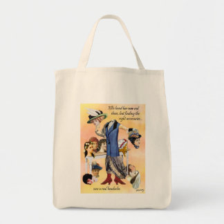 Ellie and Her Red Shoes Digital Collage Tote Bag