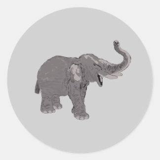 Ellie el elefante pegatina redonda