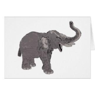 Ellie el elefante tarjeta de felicitación