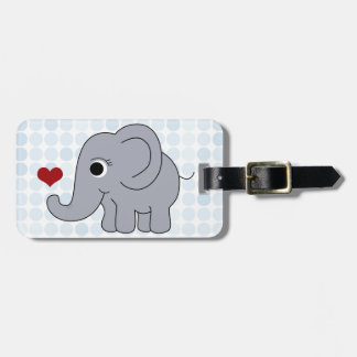 Ellie Elephant Luggage Tag
