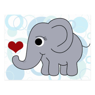 Ellie Elephant Postcard