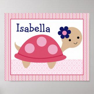 Ellie/Ella Elephant Turtle Nursery Art Poster