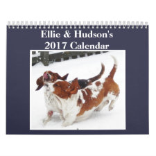 Ellie & Hudson Cute 2017 Basset Hound Calendar