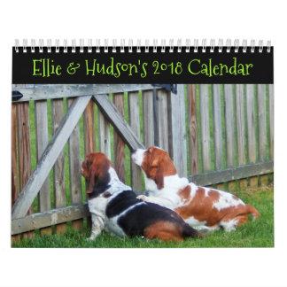 Ellie & Hudson's 2018 Basset Calendar