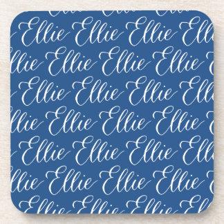 Ellie - Modern Calligraphy Name Design Beverage Coaster