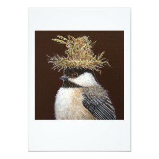 Ellie the chickadee  flat card