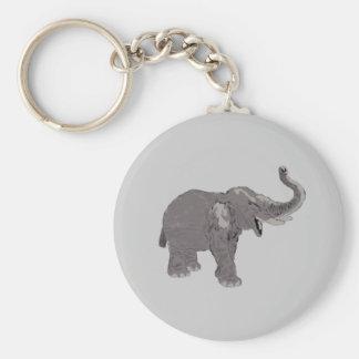 Ellie the Elephant Basic Round Button Keychain