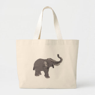 Ellie the Elephant Large Tote Bag
