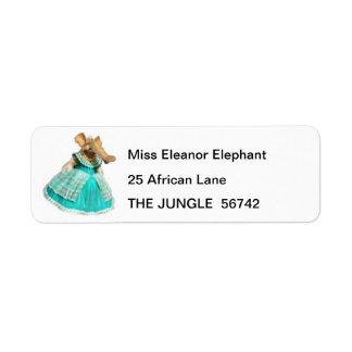 Ellie the Elephant Return Address Labels