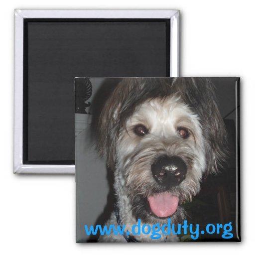 Ellie, www.dogduty.org imán de frigorífico