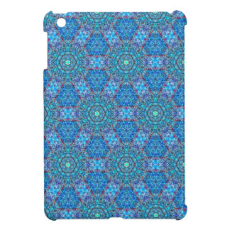 Ellie's Blue and Red pattern Cover For The iPad Mini