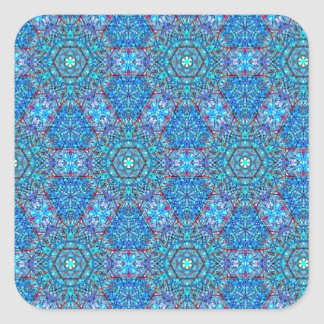 Ellie's Blue and Red pattern Square Sticker