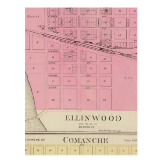 Ellinwood, Comanche, Kansas Postcard