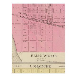 Ellinwood, Comanche, Kansas Tarjeta Postal