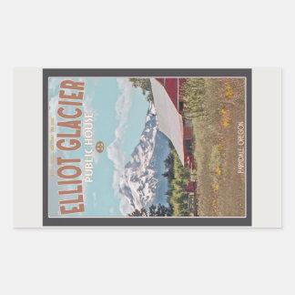Elliot Glacier Public House Rectangular Sticker