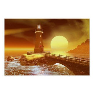 Elliot Key Lighthouse - Incoming Storm Poster