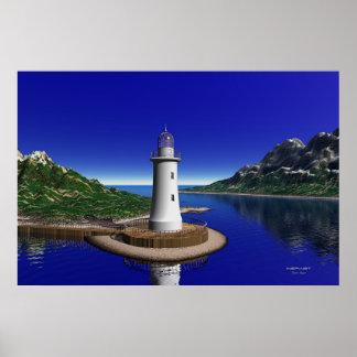 Elliot Key Lighthouse Poster