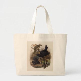 Elliot - Ptilorhynchus violaceus -Satin Bower-bird Jumbo Tote Bag