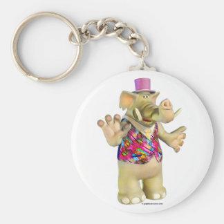 Elliot the Elephant Keyring Basic Round Button Keychain