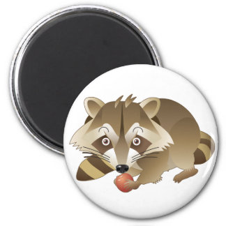 Elliot the Raccoon 2 Inch Round Magnet