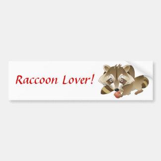 Elliot the Raccoon Car Bumper Sticker