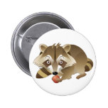 Elliot the Raccoon Button
