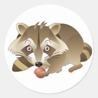 Elliot the Raccoon Round Stickers