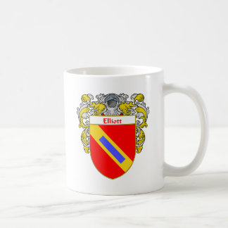 Elliott Coat of Arms (Mantled) Classic White Coffee Mug