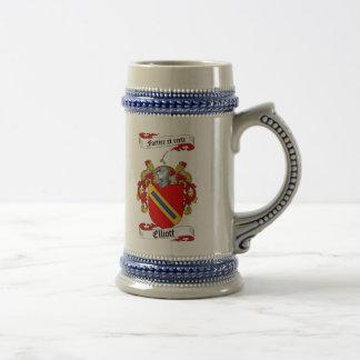 Elliott Coat of Arms Stein / Elliott Family Crest Mugs