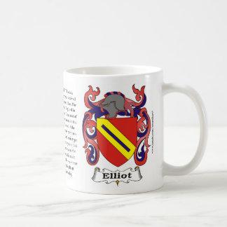 Elliott Family Coat of Arms Mug