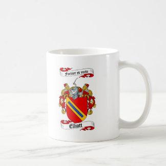 ELLIOTT FAMILY CREST -  ELLIOTT COAT OF ARMS CLASSIC WHITE COFFEE MUG