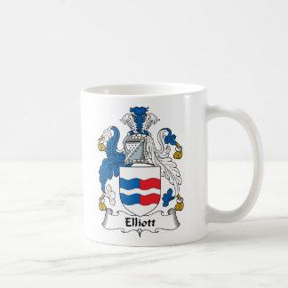 Elliott Family Crest Classic White Coffee Mug