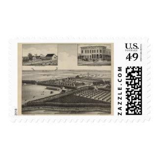 Elliott Residence and Farm, Rice County, Kansas Postage