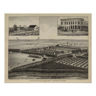 Elliott Residence and Farm, Rice County, Kansas Poster