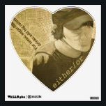 """elliott smith either/or wall sticker<br><div class=""""desc"""">featuring an original painting by Ivy Fields</div>"""