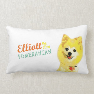 *Elliott, the Other Pomeranian* logo throw pillow