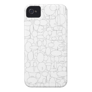 Ellipse circles white black iPhone 4 cover