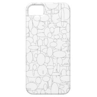 Ellipse circles white black iPhone SE/5/5s case