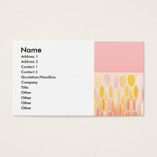 Ellipses and pink business card