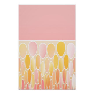 Ellipses and pink poster