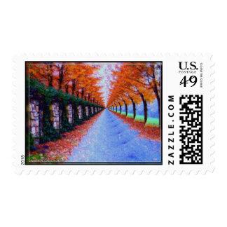Elliptical Autumn Pathway Stamps