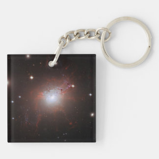 Elliptical Galaxy NGC 1275 - Perseus A Double-Sided Square Acrylic Keychain
