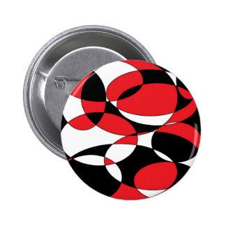 Ellipticals negros, blancos y rojos pin