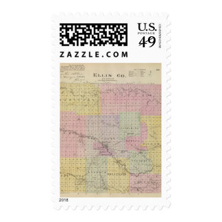 Ellis County, Kansas Postage Stamp