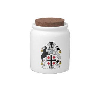 Ellis Family Crest Candy Jar