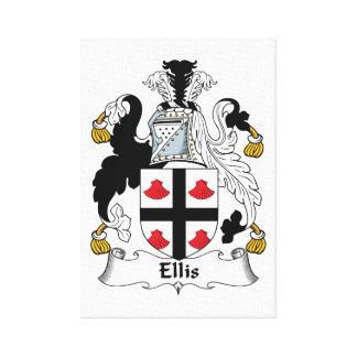 Ellis Family Crest Canvas Prints