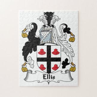 Ellis Family Crest Jigsaw Puzzle