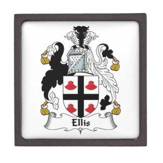 Ellis Family Crest Premium Keepsake Boxes