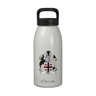 Ellis Family Crest Reusable Water Bottles