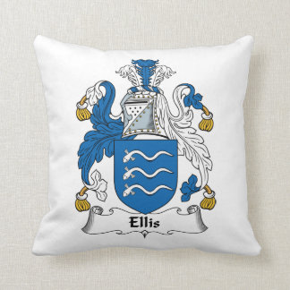 Ellis Family Crest Throw Pillow